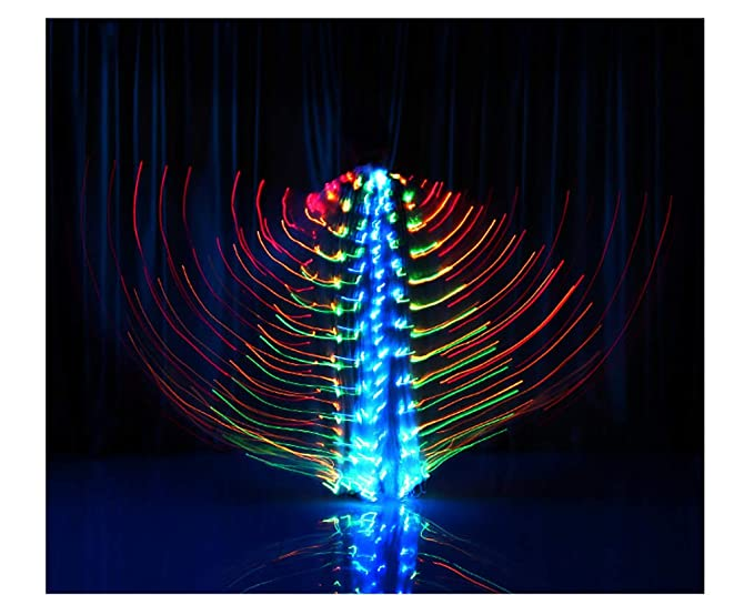 Amazon.com: Alas de baile para el vientre, tipo abeja, luces ...