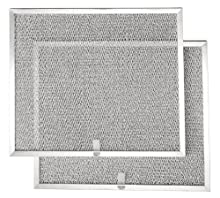 "Broan BPS1FA30 Replacement Filters for QS1 and WS1 30"" Range Hoods, Aluminum, 2-Pack"