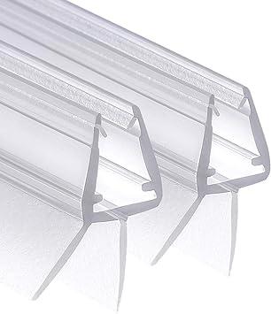 1 Duschkabinen Dichtung grau universal Duschdichtung f/ür 6mm MAALIMA 7mm 8mm Glasdicke Duschleiste mit Wasserabweiser an der Dichtung 100cm lange Gummilippe
