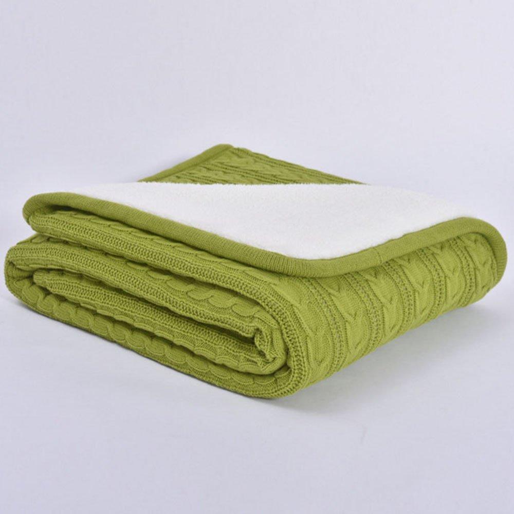 Amazon.com: 100% algodón manta de punto manta, Super suave y ...