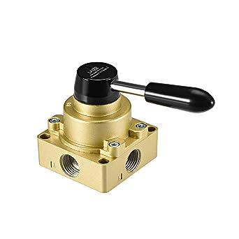 Hv-04 el flujo de aire Control 3 Posiciones 4 Formas Mano Rotary palanca válvula
