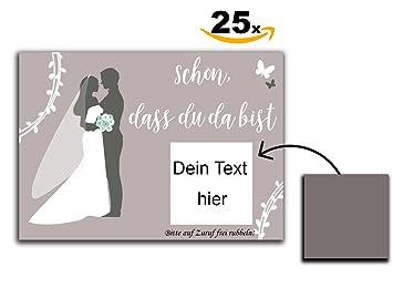 25 Hochzeit Rubbelkarten Gastgeschenk Schon Dass Du Da Bist Karte