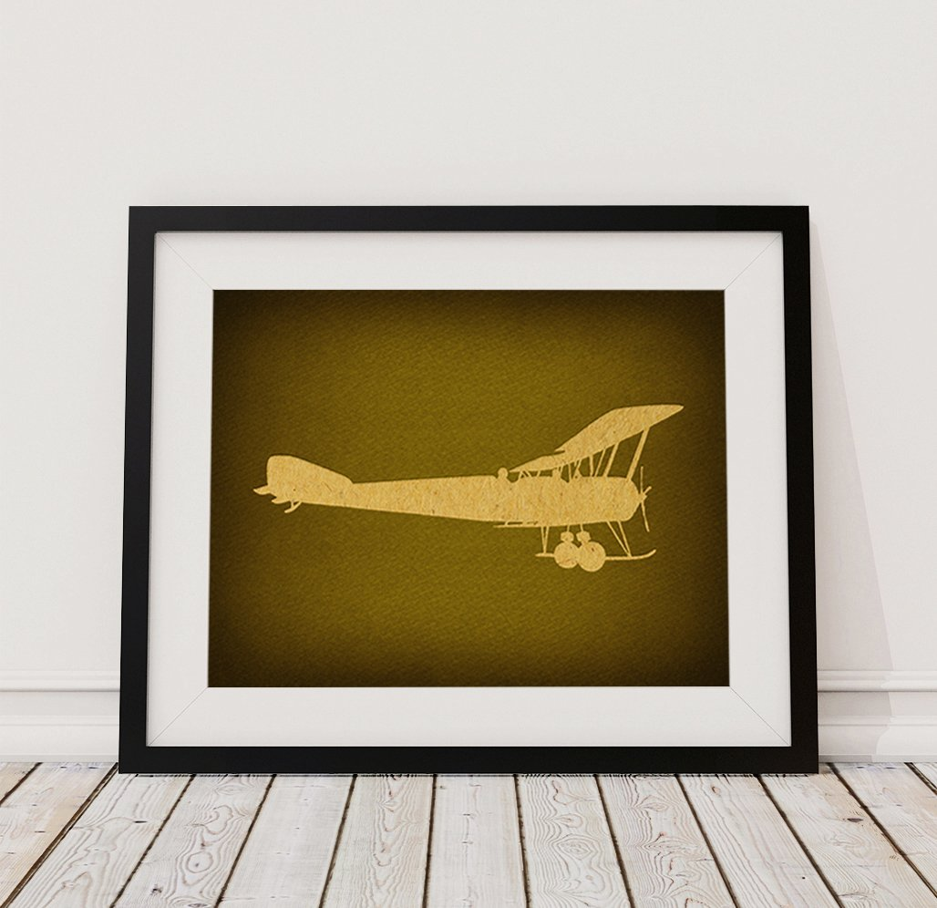 Amazon.com: Classic Vintage Airplane Wall Art Print Home Decoration ...