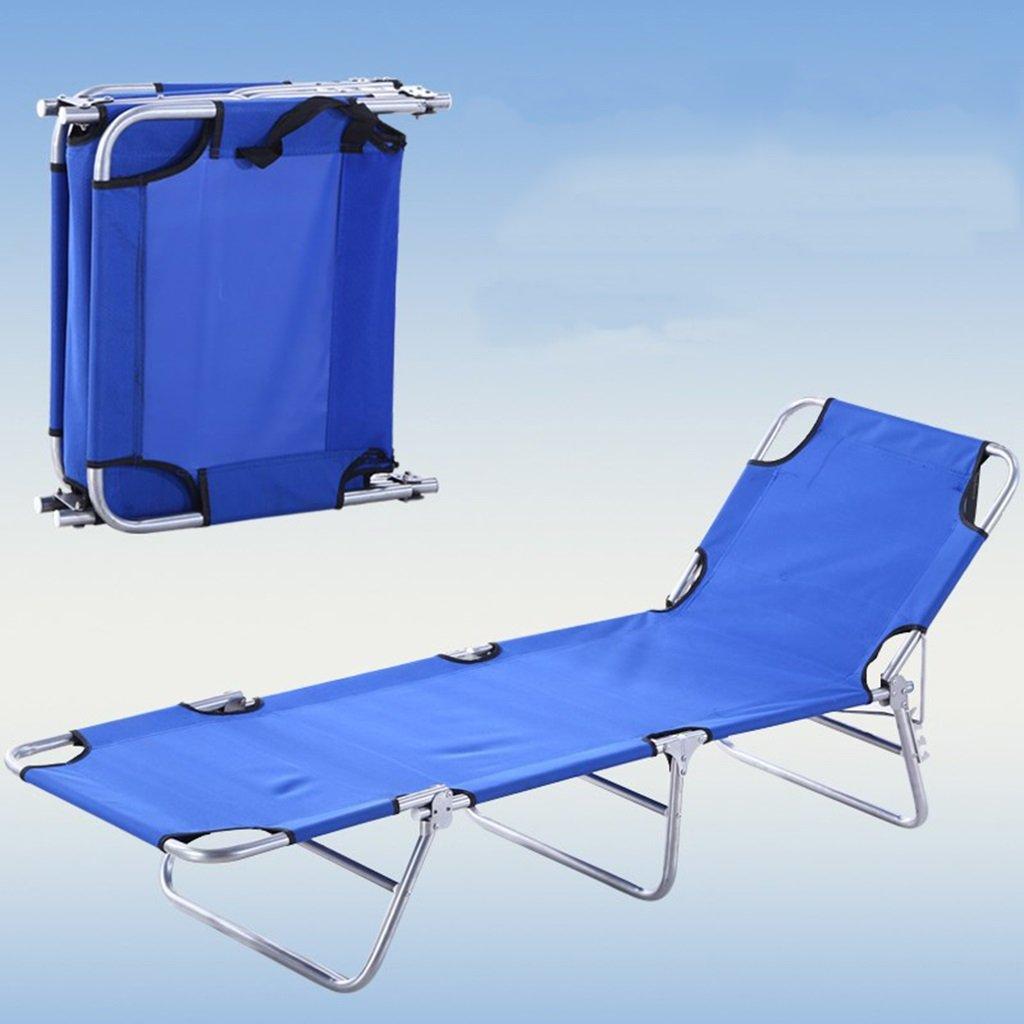 Klappstuhl Strand Stühle Leichte Liege Für Erwachsene Reise Outdoor Angeln Tragbare Sitz Metall Chaise, Blau, Halten 103 Kg