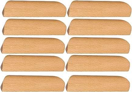 BQLZR - Tirador de madera para armario, armario, cajón, cajón, 10 unidades, 96 mm: Amazon.es: Bricolaje y herramientas