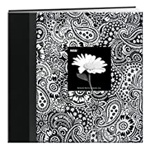 Pioneer Photo Albums 12 x 12-Inch Postbound Frame Cover Memory Book, Black and White