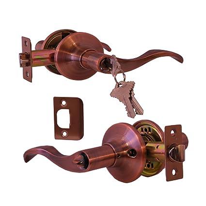 Constructor Con4215 Prelude Entry Lever Door Lock Antique Copper