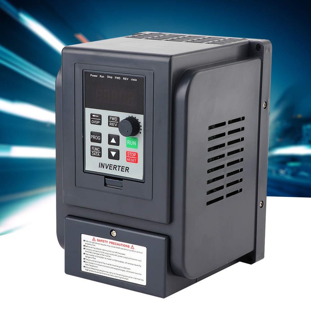 Entrada monofásica de 220V Salida trifásica de 380V 1.5KW VFD Variador de frecuencia Controlador de velocidad del inversor