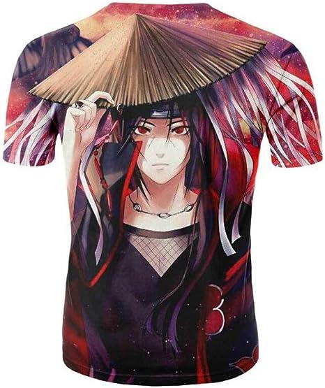 CHENGNT Camiseta Naruto Personajes De Anime Impresión En 3D Camiseta De Dibujos Animados Amor Ardientemente 1 3XL: Amazon.es: Ropa y accesorios