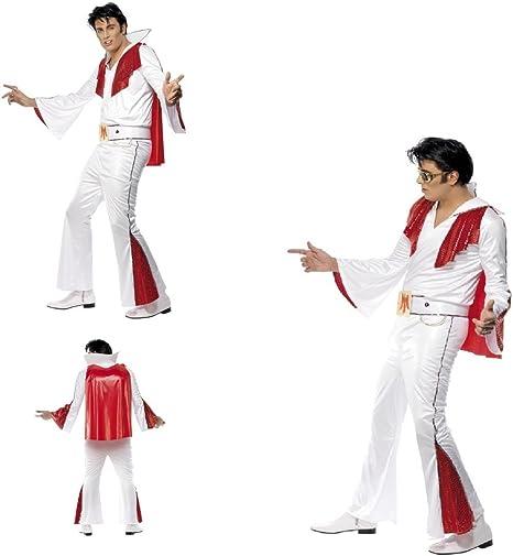 Fancy Dress Four Less Elvis Presley Disfraz de adulto, color ...
