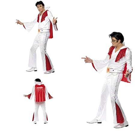 Fancy Dress Four Less Elvis Presley Disfraz de adulto, color ...