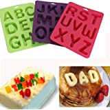 Vibola 3pcs/1set Mold 26 English Letters Number Silicone Mold Alphabet Fondant Cake Decorating Tools Chocolate Cupcake Mold Kitchen Accessories