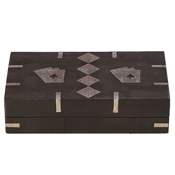 rusticity soporte para cartas de baraja de madera con Set de ...