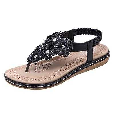 535f8f31a Sandals Summer, 🌸 Familizo Fashion New Summer Women Flat Roman Flower  Sandals Casual Slippers Flower