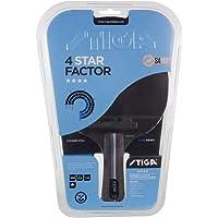 Stiga 4-Star Factor, Concave Raqueta de Ping Pong, Negro/Rojo, Talla única