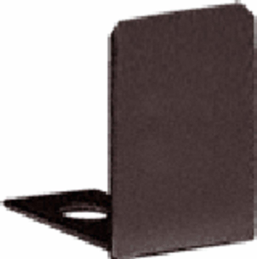 CRL Oil Rub Bronze End Cap for 1/2'' Deep U-Channel - 10 Pack