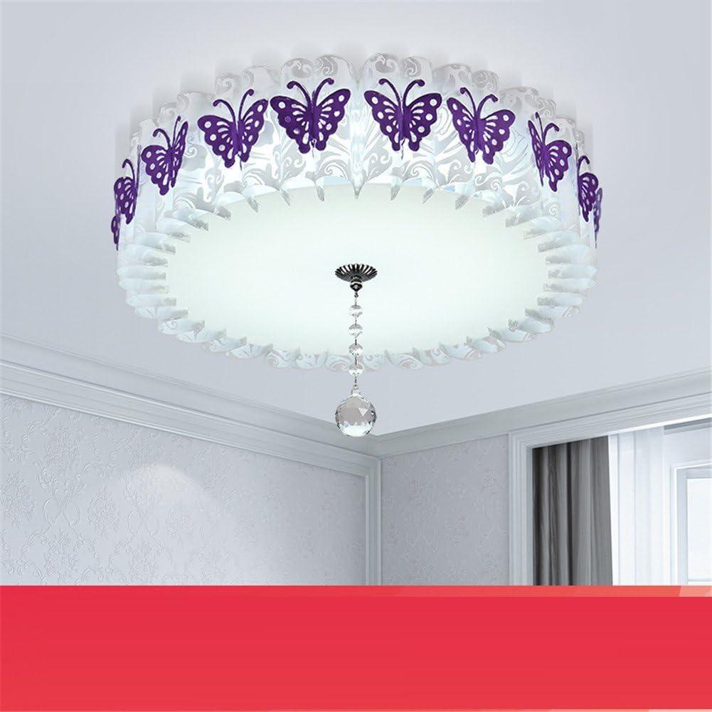 Wmshpeds Dormitorio lámpara, LED, lámpara de techo, cálido y romántico ambiente sencillo, moderno, la princesa, Habitación de chica matrimonio, salón iluminación