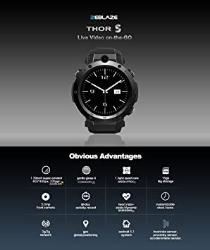 Zeblaze THOR S 1.39 pulgadas Super AMOLED 1GB + 16GB 3G GPS ...