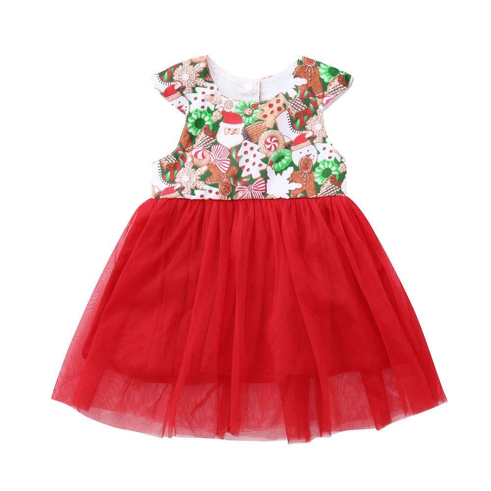 Baby Halloween Costume Toddler Girls Long Sleeve Devil Print Splice Polyester Tutu Dresses for 1-3 Years (=^∶^=)1PC Dress