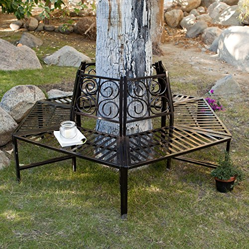 Coral Coast Scrollback Metal Tree Surround Bench (NSS) (Rattan Chi Wing Factory)