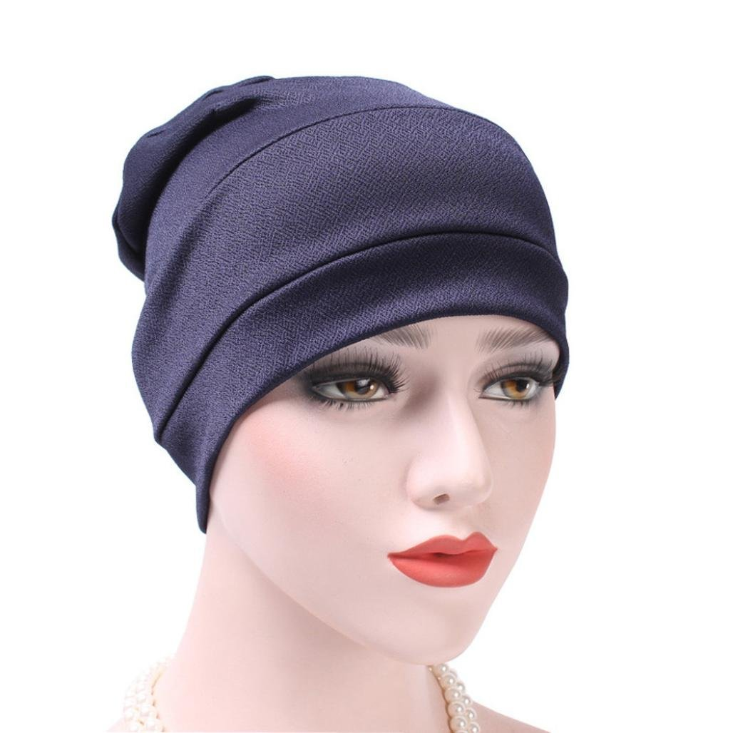 02ed7c57c6271 Women India Hat Muslim Ruffle Cancer Chemo Hat Beanie Scarf Turban Head  Wrap Cap ❤ Package including  1PC Hat Women s Winter Beanie Warm Fleece ...