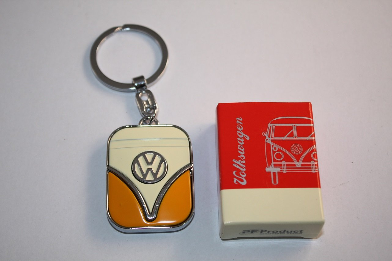VW Bulli T1 Yellow – Key Ring Orange Sachen aus Blech