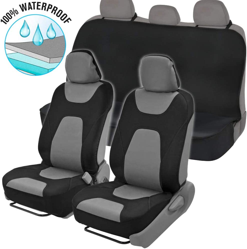 TOYOTA HILUX Heavy Duty Waterproof Front Seat Covers Protectors Black