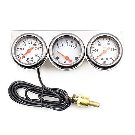 3-In-1 Auto Universal Temperatura del Agua / Voltaje / Indicador de Presión de Aceite Pantalla del Puntero Digital 2