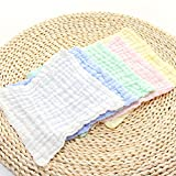MsFeng Cotton Crinkle Baby Muslin Washcloths and
