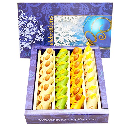 Ghasitaram Gifts Mother's Day Gifts - Sugarfree Assorted Rolls Box 400 GMS