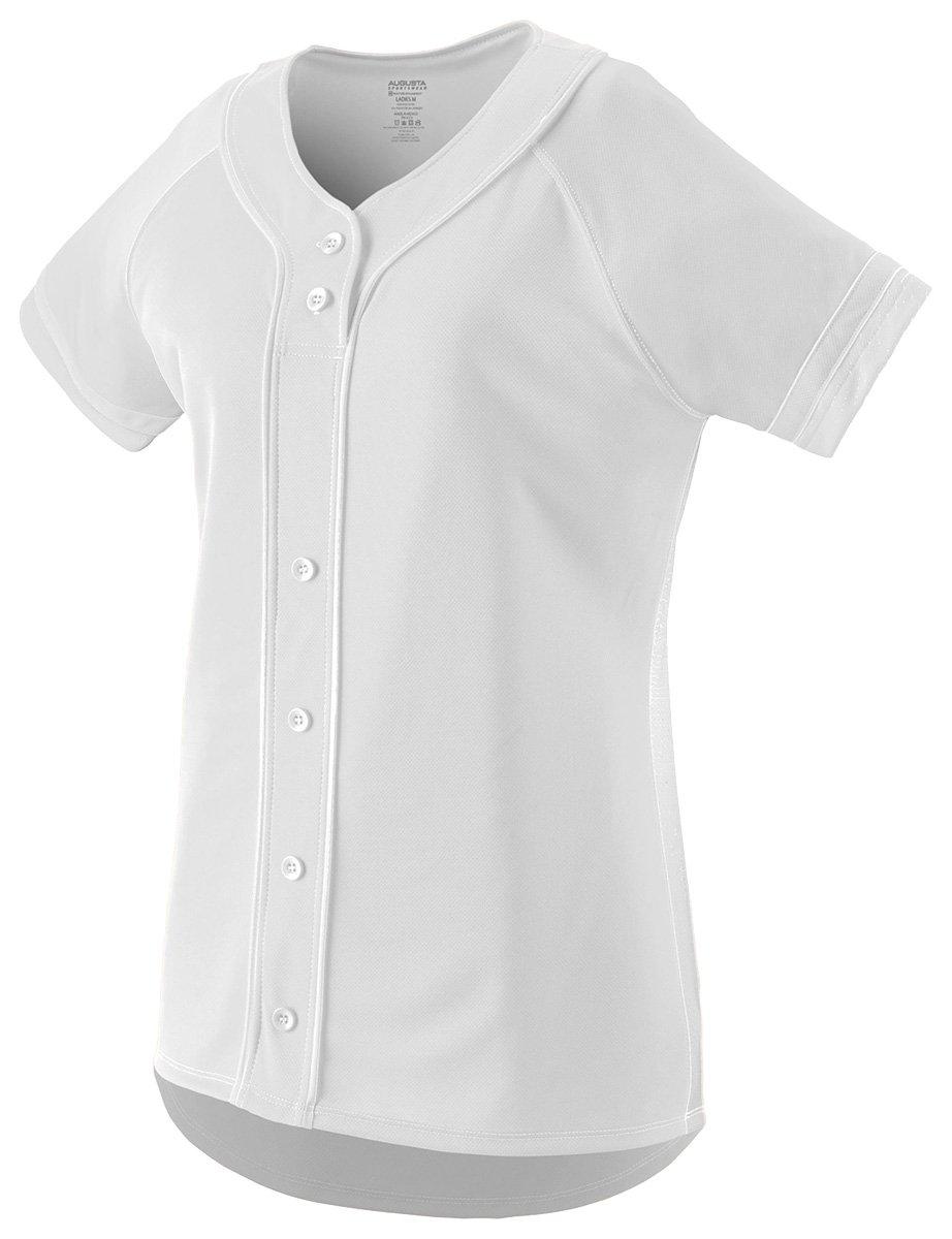 Augusta Sportswear Girls ' Winner Softball Jersey B01B8GOW6C Small|ホワイト/ホワイト ホワイト/ホワイト Small