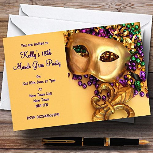 Mardi Gras Personalized Party (Mardi Gras Stationery)