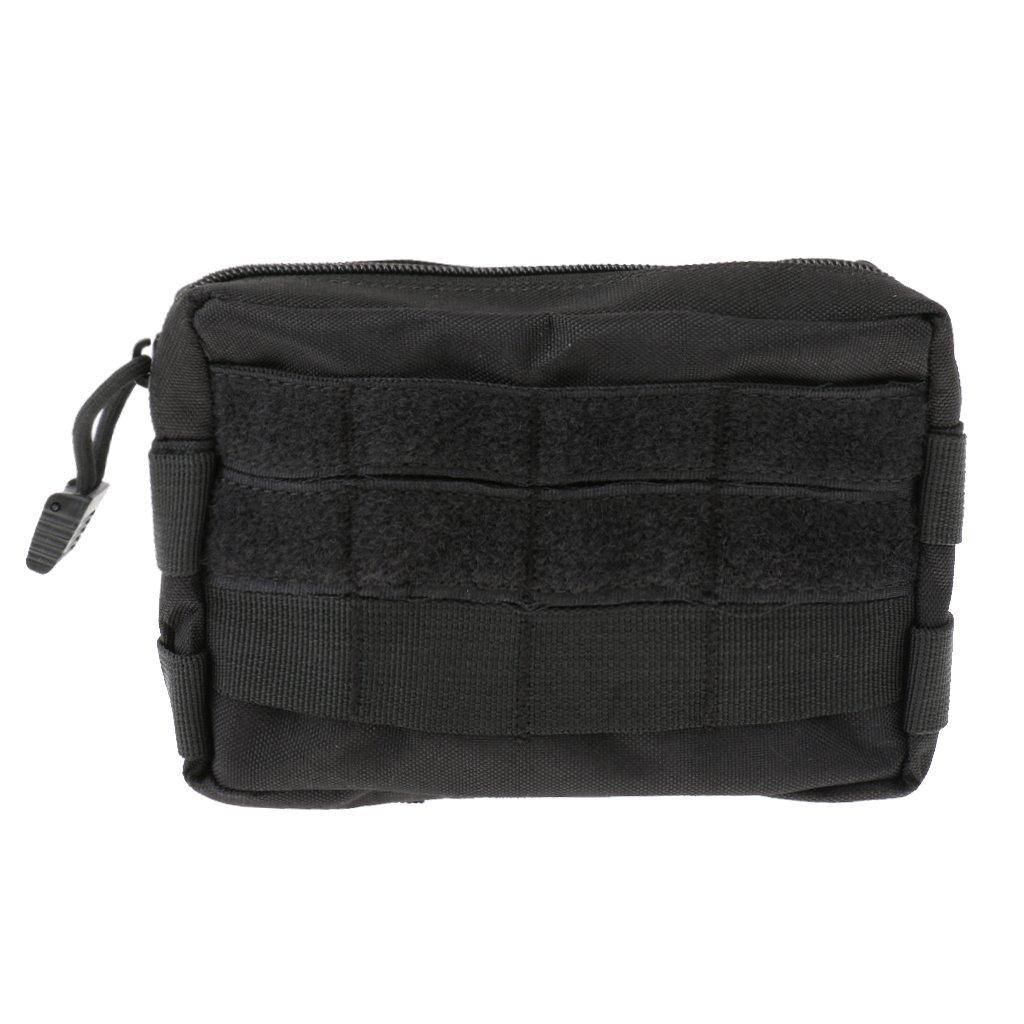 Outdoor Sports Travel 1000D Waterproof Nylon Molle Tactical Waist Bag Phone Belt Loop Bum Fanny Pack Pocket Purse - Black, M STK0154008711