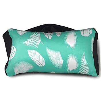 Amazon.com  Eye Pillow Leaves Turquoise Custom Personalized Womens Portable  Blindfold Train Sleep Eye Bag Patch  Beauty 553e4eb856