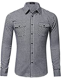 "<span class=""a-offscreen"">[Sponsored]</span>Men's Dress Long Sleeve Flannel Shirt Thermal Plaid Checkered Jacket"