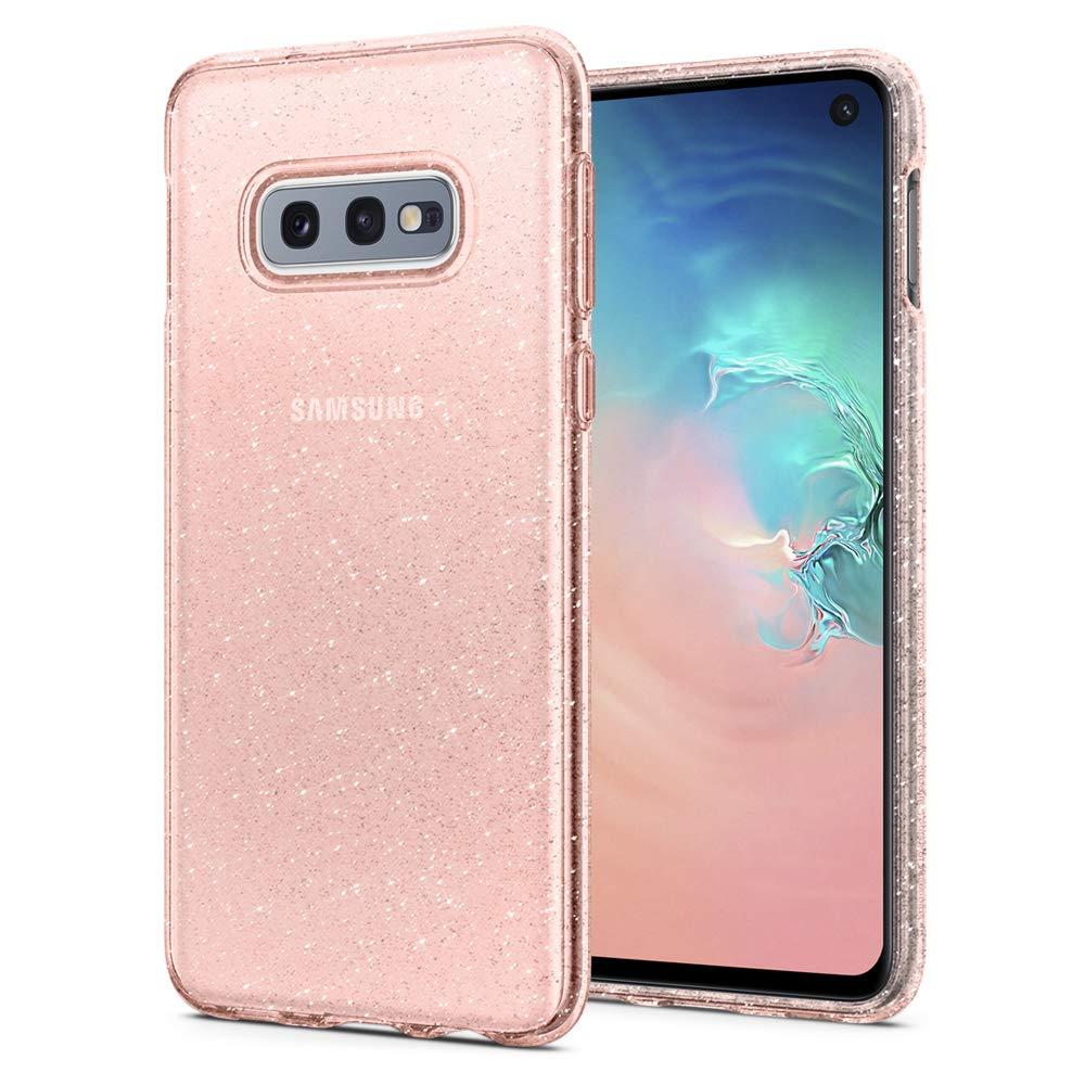 Funda Spigen Samsung S10e Rose Quartz Liquid Crystal Glitte