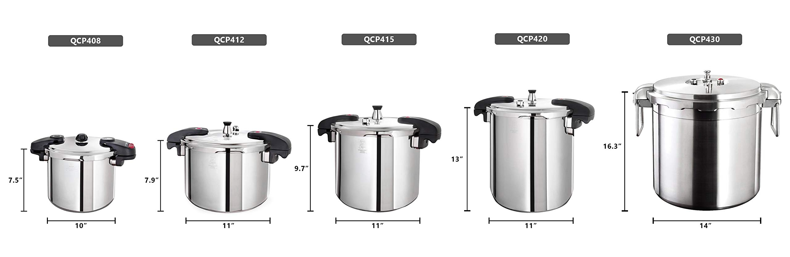 Buffalo QCP415 15-Quart Stainless Steel Pressure Cooker [Classic series] by Buffalo (Image #2)