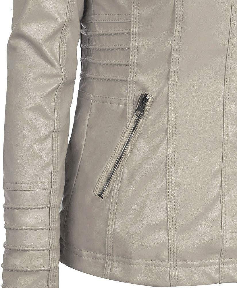 VEMOW Herbst Winter Damen Frauen Schlank Mit Kapuze Warme Jacke Mantel Revers Abnehmbare Rei/ßverschluss Casual T/äglich Outdoors Freizeit Outwear Tops