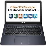 """Asus L402SA-WX223TS PC portable 14"""" Bleu (Intel Celeron, 4 Go de RAM, SSD 32 Go, Windows 10) + Office 365 Personnel inclus pendant 1 an"""
