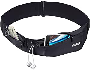 ESR Running Belt Runners Waist Pack Adjustable Stretchy Zippered Fanny Pack with Headphone Port, Fitness Workout Travel Yoga Compatible for iPhone Xs/Xs Max/XR/X/8/7/6s Plus, Samsung S9/S8/S7/S6 Edge