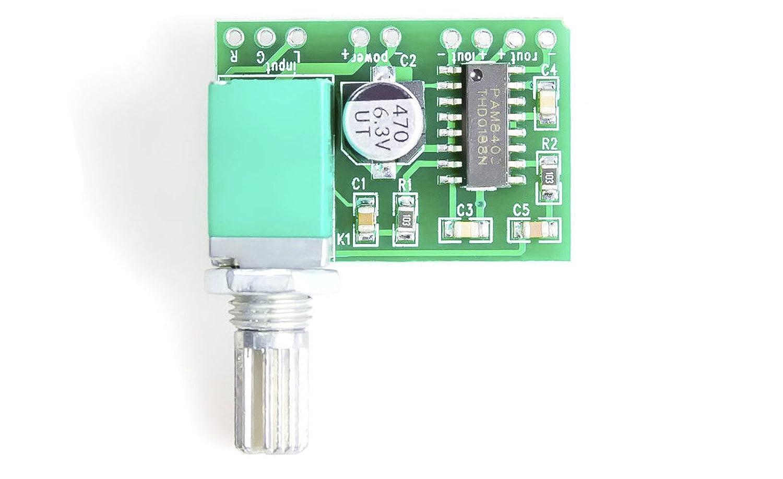 Un mini amplificateur audio stéréo Amplificateur avec haut-parleur avec contrôle du volume 2x 3W PAM8403 MissBirdler