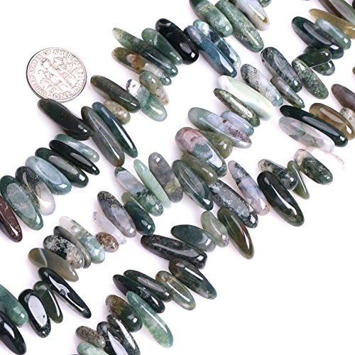 GEM-inside Moss Agate Gemstone Loose Beads Natural Green 18-20mm Crystal Energy Stone Power For Jewelry Making 15