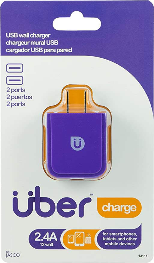 Uber 13112 AC USB Adapter, 2-2.4 Amplifier, Black