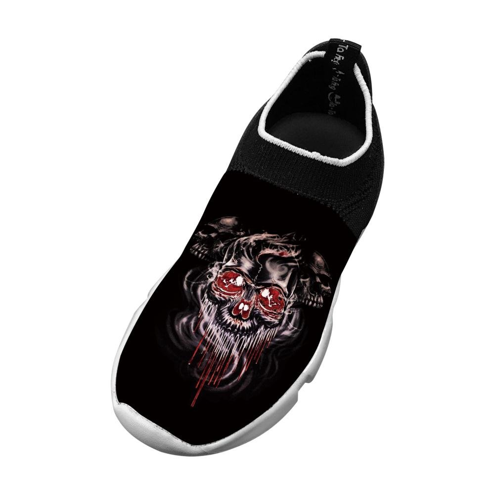 Three Skull And Bones New Awesome Flywire Knitting 3D Printing Running Shoe For Boys Girls