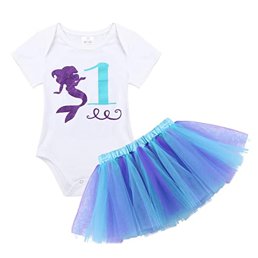 a036aeada iiniim Baby Girls 1st Birthday Outfit Romper Bodysuit with Tutu ...