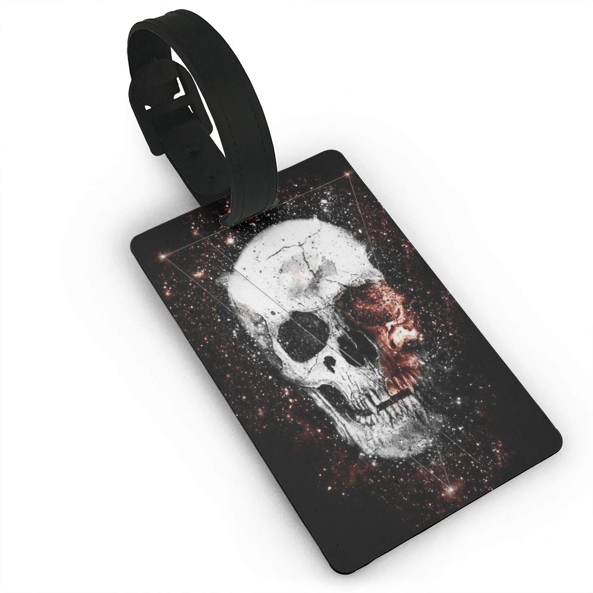 2 Pack Luggage Tags Skull Travel Tags For Travel Bag Suitcase Accessories