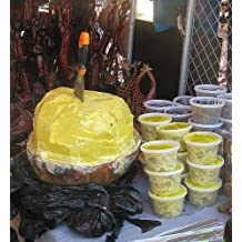 """Authentic African Shea Butter Pure Raw Unrefined From Ghana """"GOLD"""" 16oz. CONTAINER"""