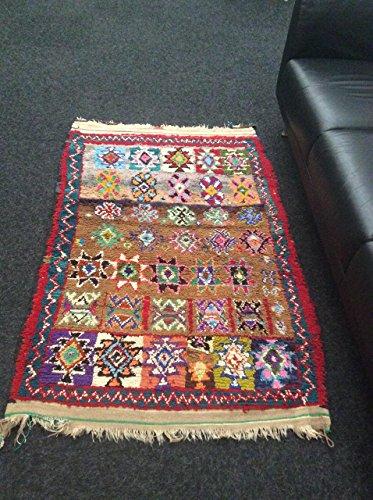 Handmade carpet by Berber woman of Morocco