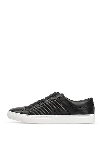 bc7c918a7569ca Amazon.com: Hugo Boss Men Futurism Tenn Black Leather Sneakers (9 ...