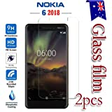 [2-Pack] Nokia 6.1/Nokia 6 2018 Tempered Glass LCD Screen Protector Film Guard